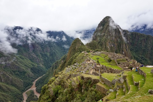 Machu Pichu, standing tall 1600 ft above the river valley